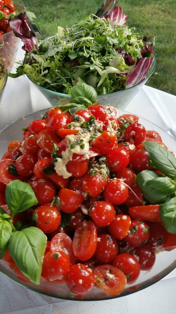 Homemade Tomato & Mozzarella Salad, Dressed With Fresh Basil