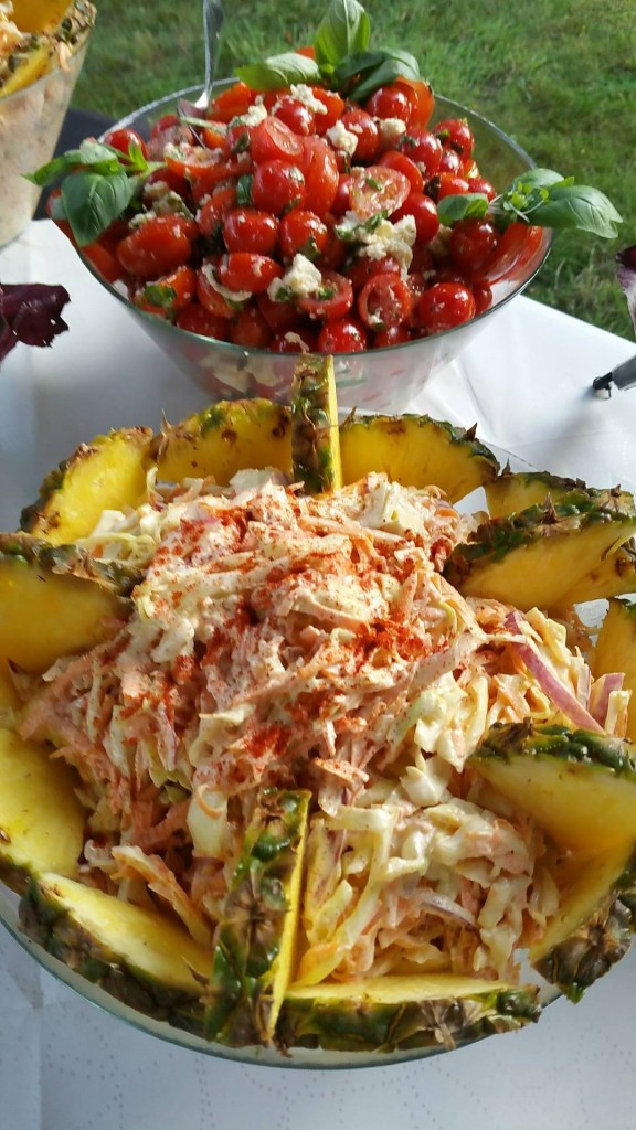 Homemade Coleslaw, Dressed with Pineapple and Paprika